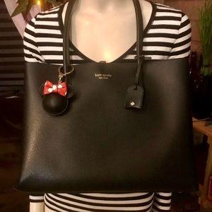 Kate Spade Large Black Leather Eva Tote Bag